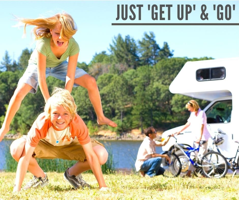 Just get up and go blog banner